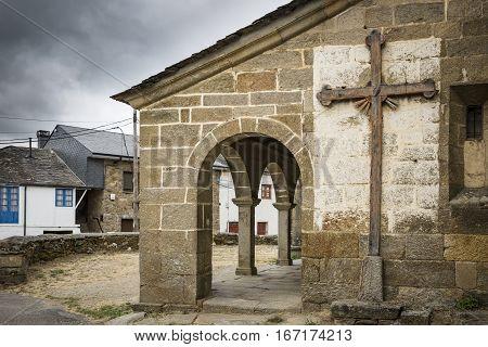 Santo Tomás Apóstol church in Otero de Sanabria village, Zamora, Spain
