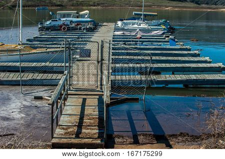 Low level lake and much needed repairs for the docks at Casitas.