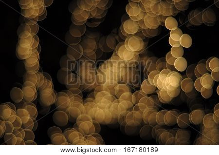 Bokeh lens effect Champagne white circles background