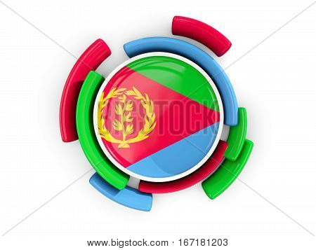 Round Flag Of Eritrea With Color Pattern
