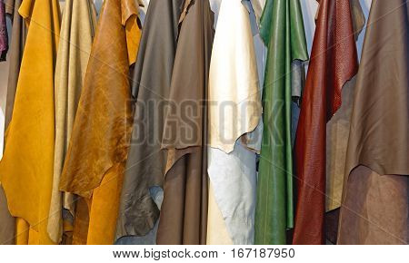 Leather Pelt Fashion Variety Color Material Hanging