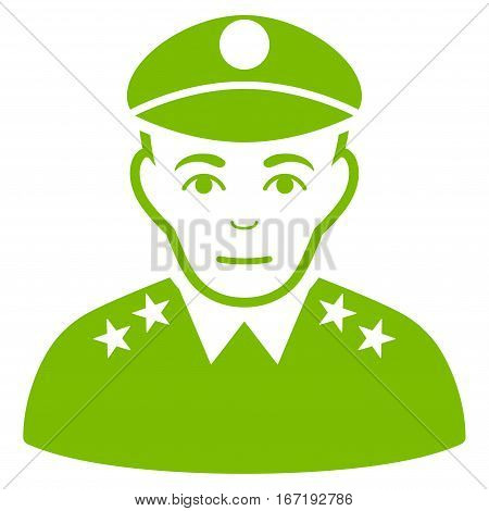 Army General vector icon. Flat eco green symbol. Pictogram is isolated on a white background. Designed for web and software interfaces.