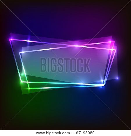 Abstract colorful banner neon background, stock vector