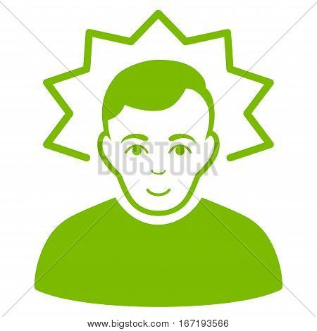 Inventor vector icon. Flat eco green symbol. Pictogram is isolated on a white background. Designed for web and software interfaces.
