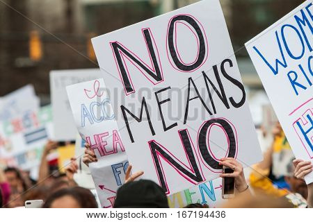 A protest sign that says