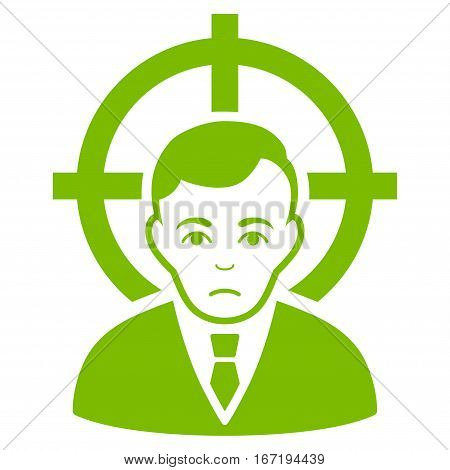 Victim Businessman vector icon. Flat eco green symbol. Pictogram is isolated on a white background. Designed for web and software interfaces.