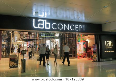 HONG KONG - NOVEMBER 8, 2016: Lab Concept shopping mall . Lab Concept is the contemporary retail management arm of Lane Crawford Joyce Group.