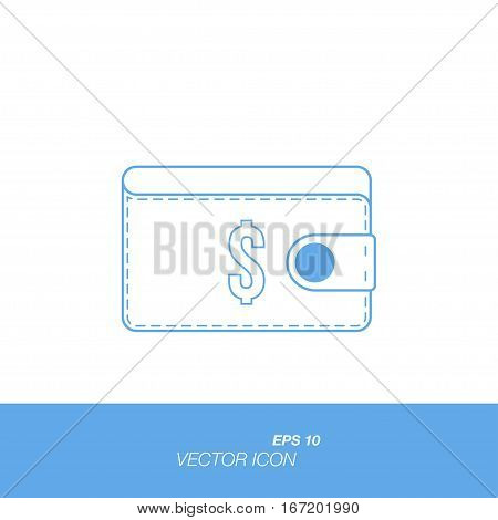 Purse icon in flat style isolated on white background. Purse symbol for your design and logo. Vector illustration EPS 10.