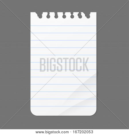 Paper sheet list information isolated vector illustration. Message office different note business blank adhesive notice. Stationery empty reminder.
