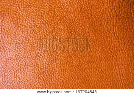Genuine Full Grain Leather Tan Color Colose Up Background
