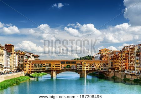 Medieval Bridge Ponte Vecchio And The Arno River, Florence