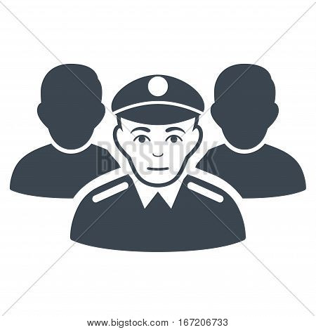 Army Team vector icon. Flat smooth blue symbol. Pictogram is isolated on a white background. Designed for web and software interfaces.