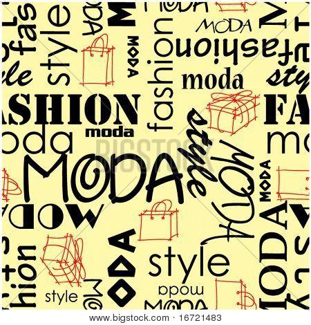 art vintage word pattern moda fashion background