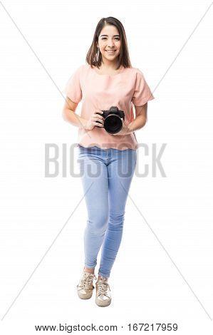 Beautiful Hispanic Female Photographer