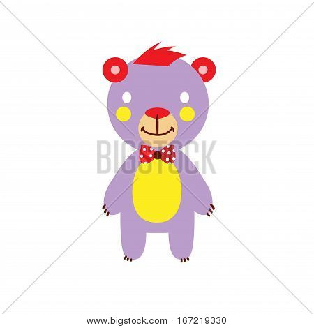Jolly Bear color on a white background. Vector illustration