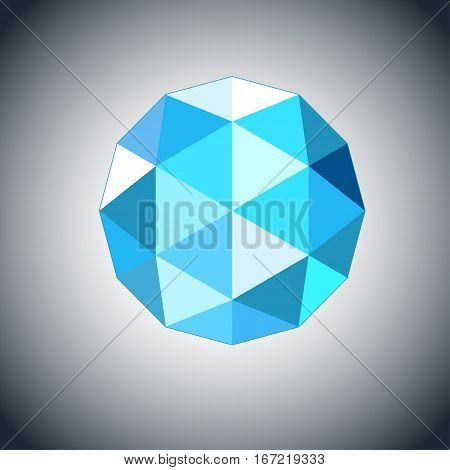 topaz gem jewel icon. Stock vector illustration