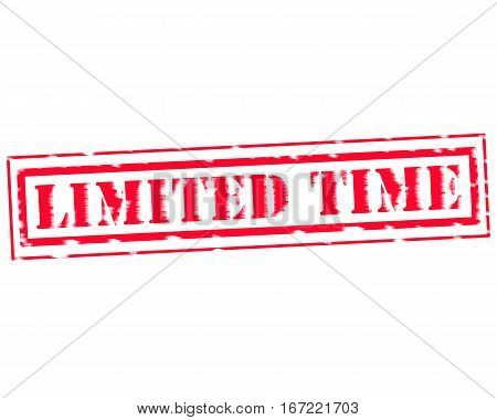 LIMITED TIME RED Stamp Text on white backgroud