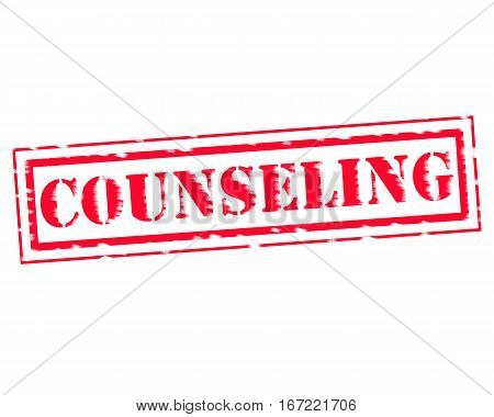 COUNSELING RED Stamp Text on white backgroud