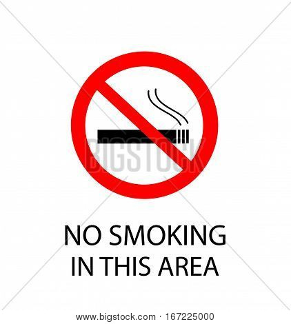 No Smoking Sign illustration on white background