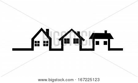 House vector icon illustration on white background