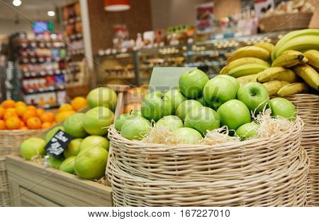 Apples On Sale In Food Shop