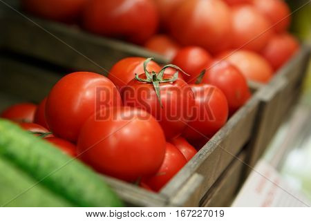 Tomato Box On Sale In Food Shop