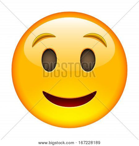 Happy Smile Of Emoticon. Smile Icon. Yellow Emoji