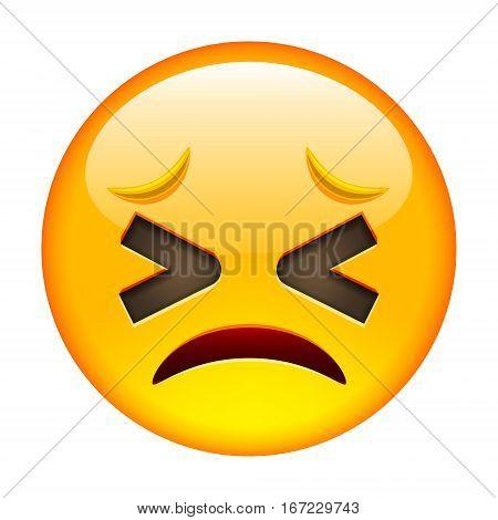 Persevered Unhappy Smile Of Emoticon