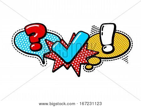 Vector Quiz Isolated Logo. Questionnaire Icon Sign. Poll Signs. Bubble Speech Expression Cartoons. Social Communication Chatting Interview Voting Discussion Talk Team Dialog Group Chat Symbols