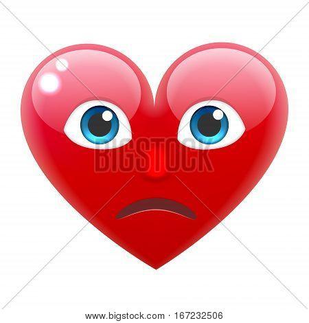 Unhappy Heart Smile Emoticon. Unhappy Heart Emoji