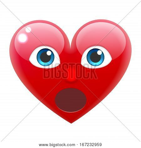 Surprised Heart Smile Emoticon. Surprised Heart Emoji