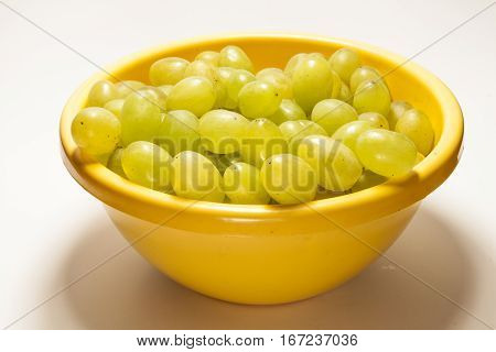 Grapes In A Yellow Bowl