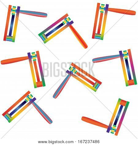 Purim pattern with toy noisemaker, also called