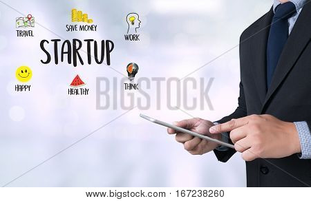 Startup New Beginning   Solution  For Goals Start Your Life Lifestyle Begin Beginning Businessman Bu