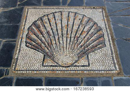 Scallop Shell Symbol In The Ground Saint James Way