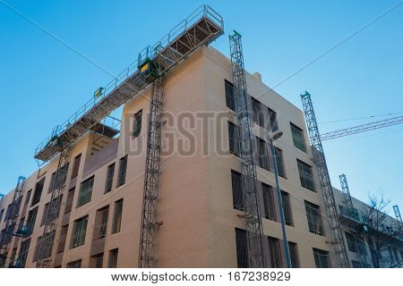 Mechanical Scaffolding In A Building Construction