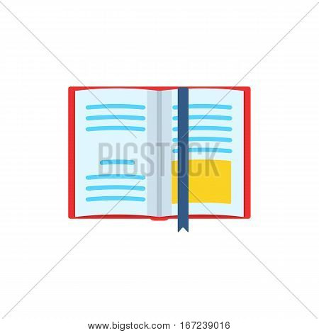 Book icon. Education textbook symbol. Colored circle buttons with flat web icon. Book symbol for your web site design, logo, app, UI. Vector illustration.