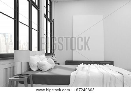 Master Bedroom Interior With Poster