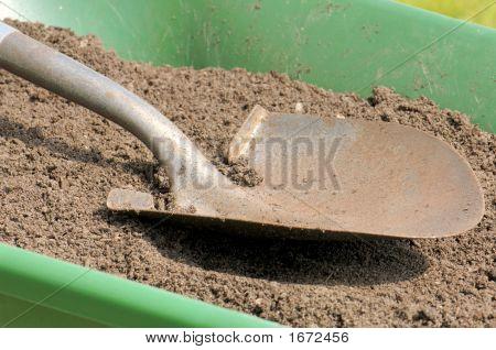 Gardening-Shovel-Sandy Soil-Wheelbarrow