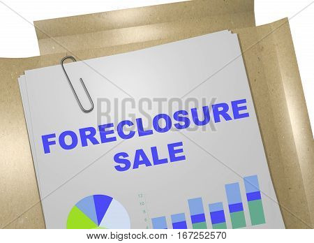 Foreclosure Sale - Business Concept