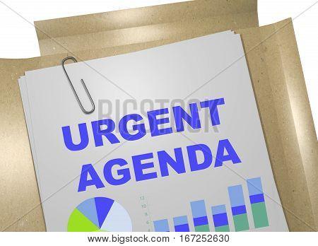 Urgent Agenda - Business Concept