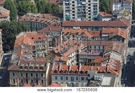 Top View Of A European Metropolis With Many Roofs