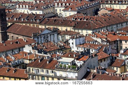 Aerial View Of A European Metropolis With Roofs