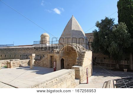 Baku, Azerbaijan. Shirvanshahs tomb in the old town