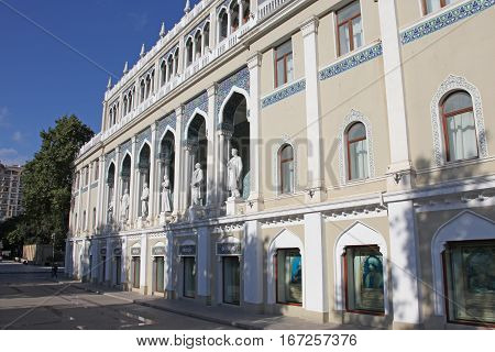 The Nizami Ganjavi National Museum of Azerbaijan literature. Baku in Azerbaijan.