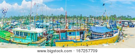 Panorama With Colorful Trawlers