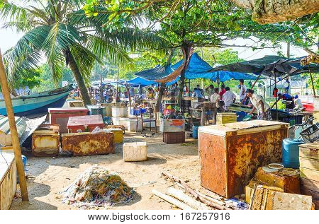 The Stalls Of Galle Fish Market
