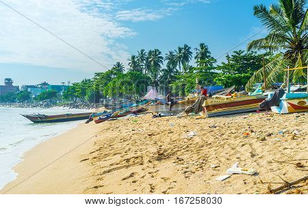 Fishing Boats On Galle Beach