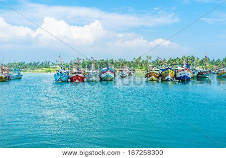 The Blue Waters In Harbor