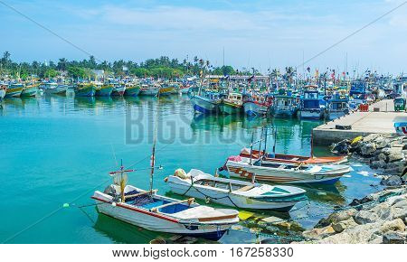Small Boats In Port